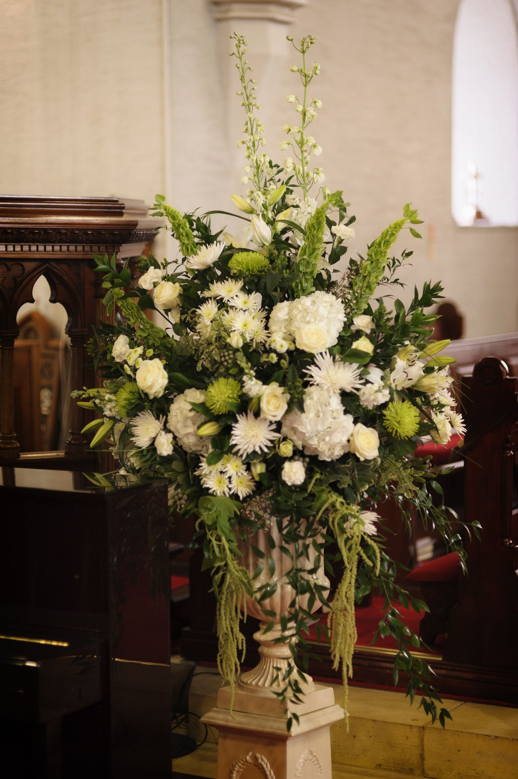 Large Wedding Flower Arrangements For Church, Beautiful