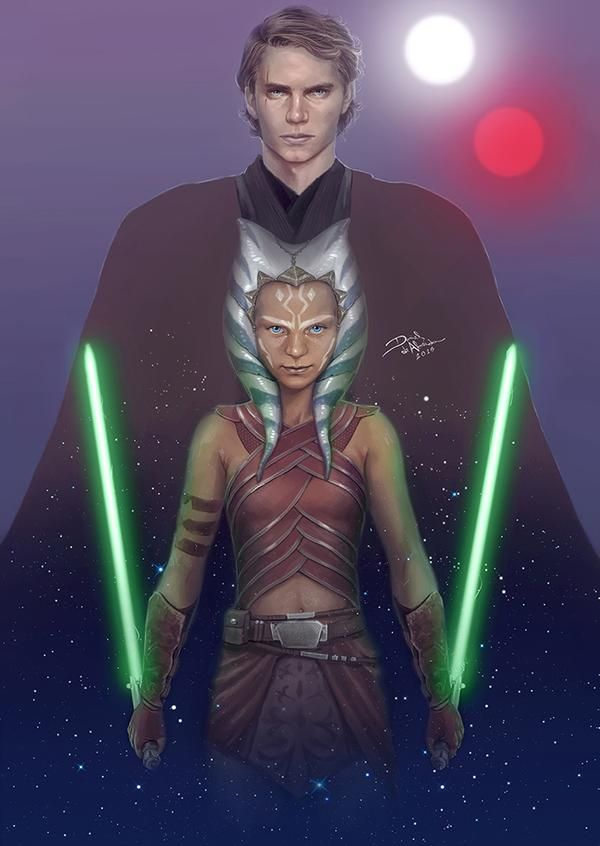 Anakin Skywalker and Ahsoka Tano | Star wars fandom