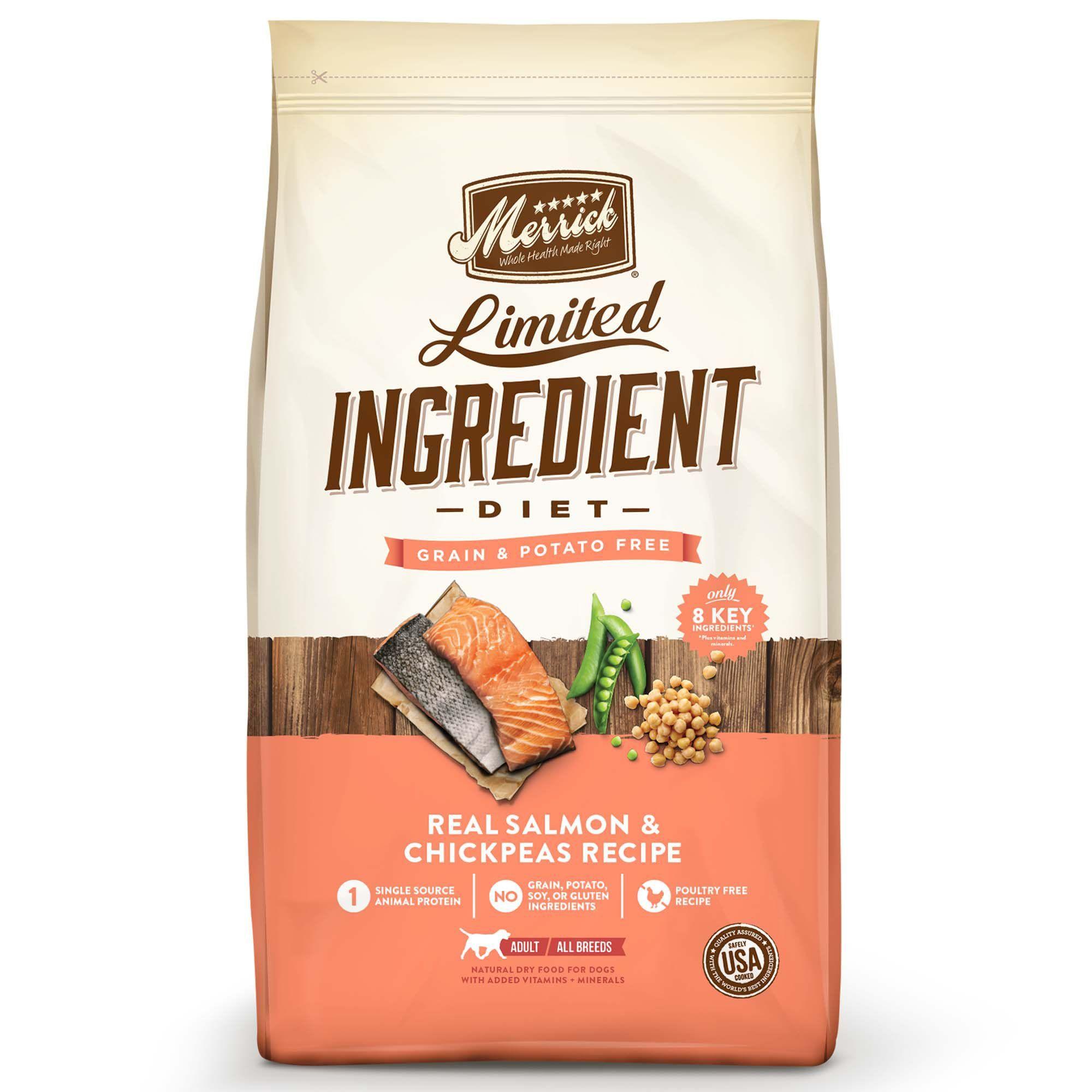 Merrick Grain Free Limited Ingredient Diet Salmon Dry Dog Food 22