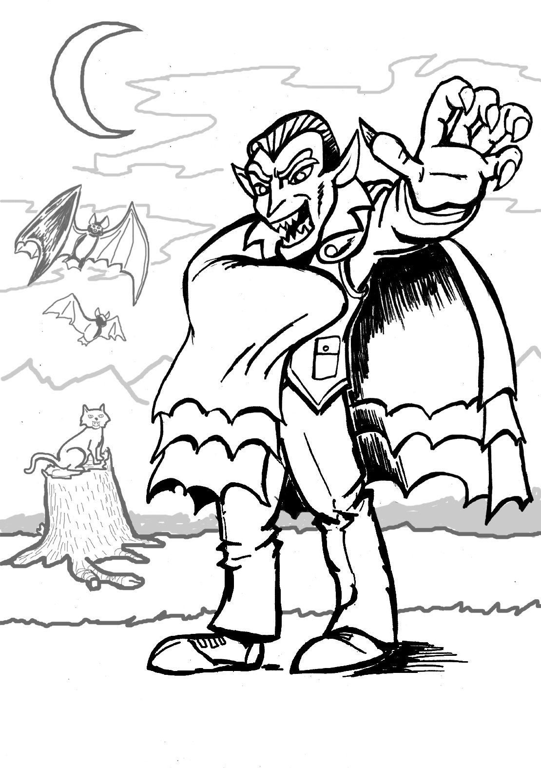 Vampire Printable Coloring Pages Disney Coloring Pages Avengers Coloring Pages Cute Coloring Pages