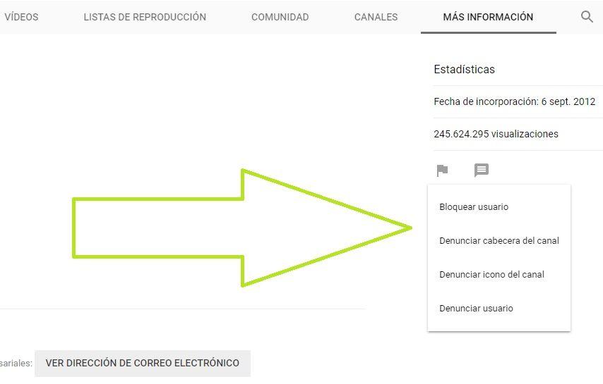 Como Bloquear Canales En Youtube Youtube Direccion De Correo