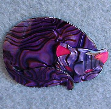 LEA STEIN GOMINA CAT PIN BROOCH