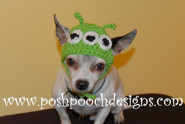 Alien Hat For Dogs Pattern By Sara Sach Dog Beanie Dog Pattern