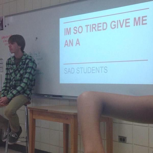 On presenting in class: