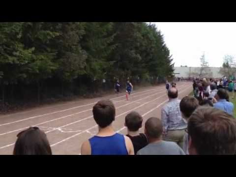 Dan get's 2nd in the 100m