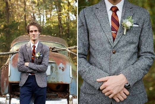 Tnwc Real Brides Sarah Has Been Hunting Down An Affordable Country Tweed Suit For Her Groom To Be