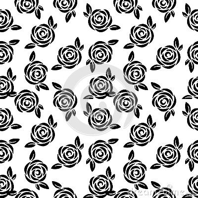vector seamless floral pattern and rose flower abstract black and white floral pattern black and white flowers seamless repeat pattern flowers seamless