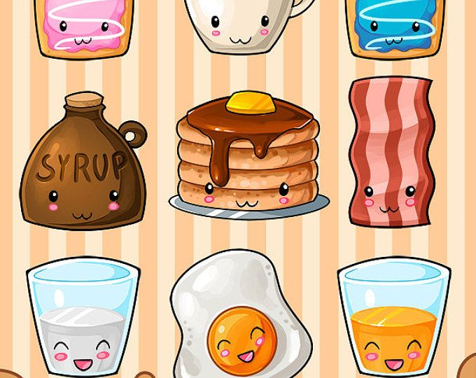 Kawaii Junk Food Clipart Cute Fast Food Download Kawaii Design