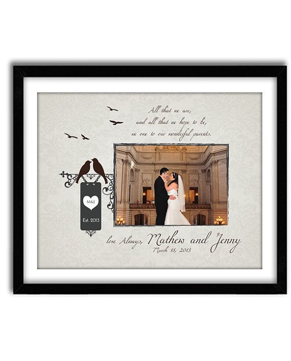 Wedding Gift Parents For Of Bride And Groom Thank You Mom Dad