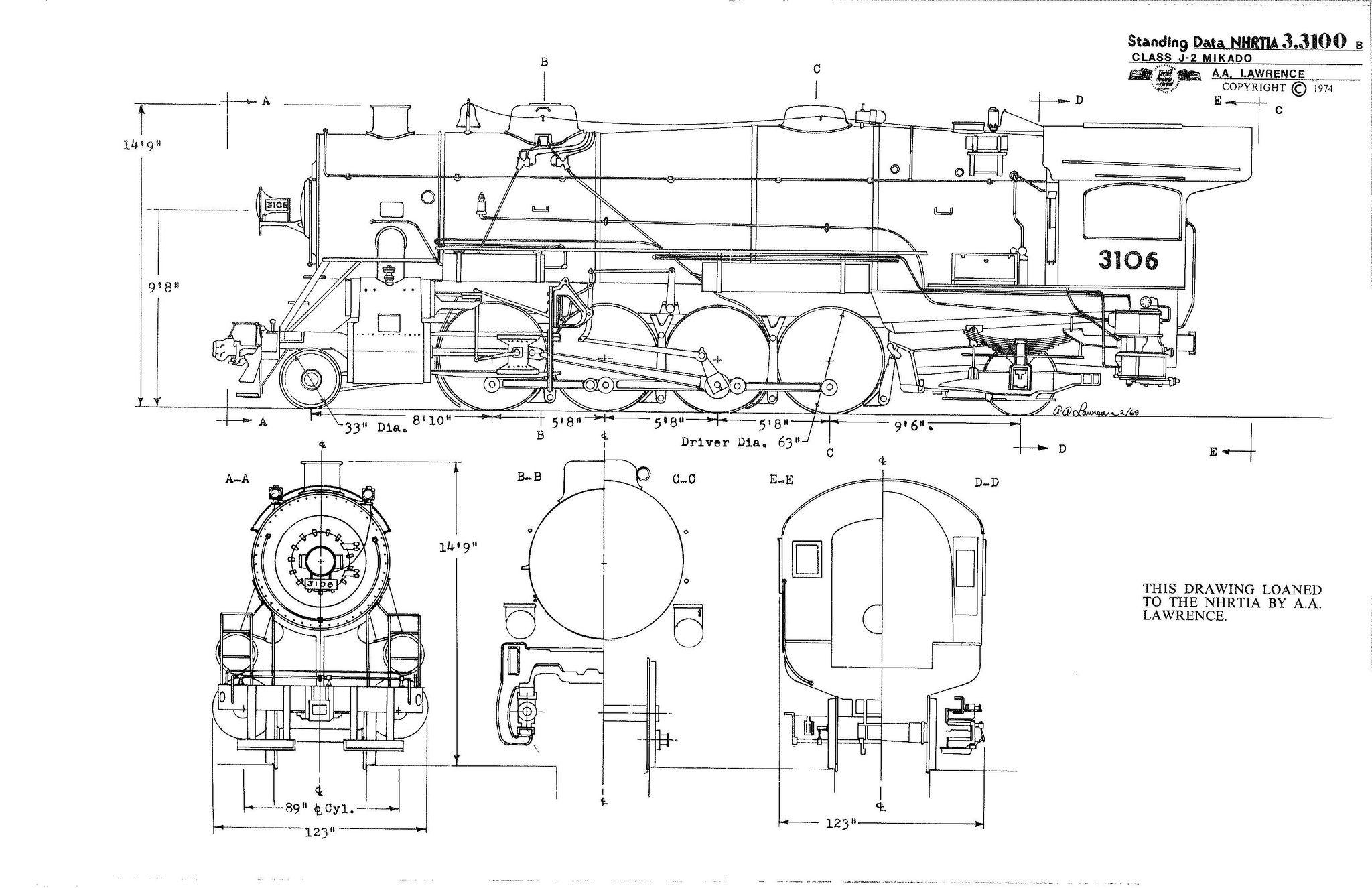 Nh Nynh Amp H New Haven Railroad 2 8 2 Mikado Steam Locomotive In