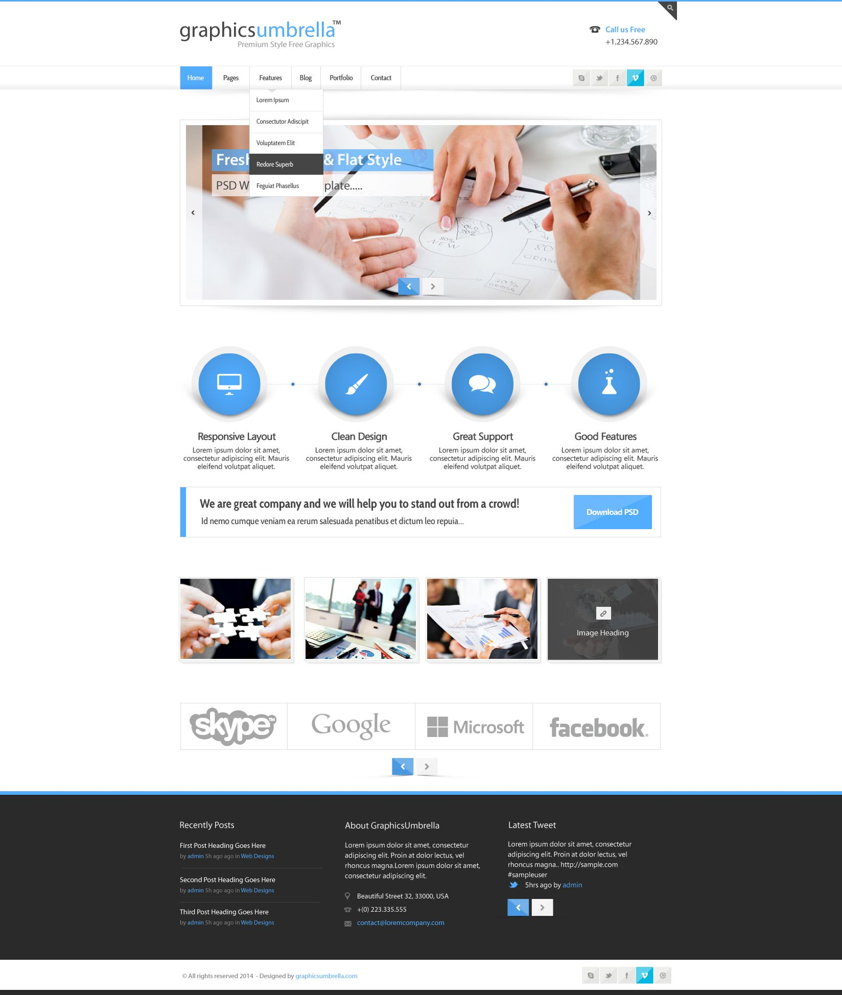 PSD CORPORATE BUSINESS WEB DESIGN TEMPLATE | Designs Canyon ...