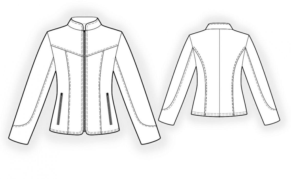 Leather Jacket Sewing Pattern 4296 Jacket Pattern Sewing Jacket Pattern Coat Pattern Sewing [ 700 x 1135 Pixel ]