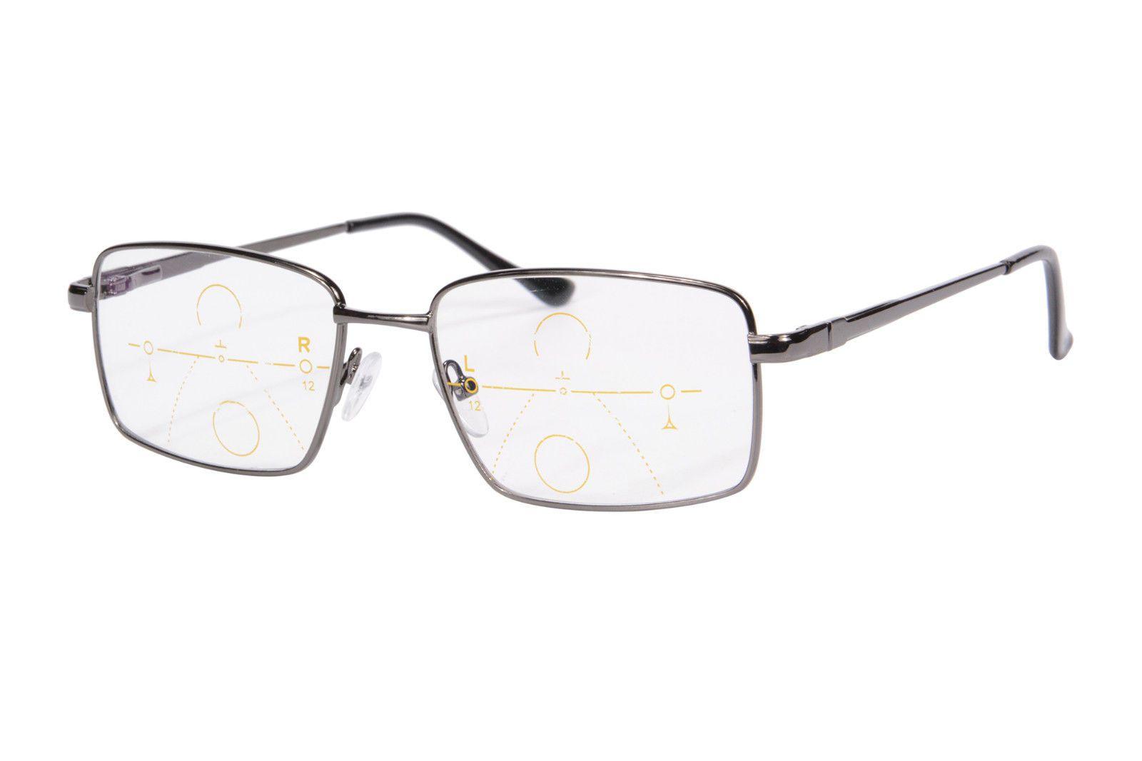 5c973faae89 Progressive Multifocal Reading Glasses Full Metal Frame Presbyopia  Eyeglasses-SH030