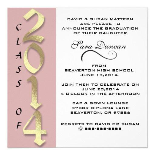 Cute Classic Elegant 2014 Graduation Invitation today price drop and