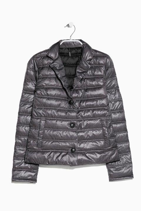 Mango Herringbone Pattern Coat, $50; mango.com Courtesy of Retailer - 15 Chic Puffer Jackets You'll Actually Want to Wear - Elle