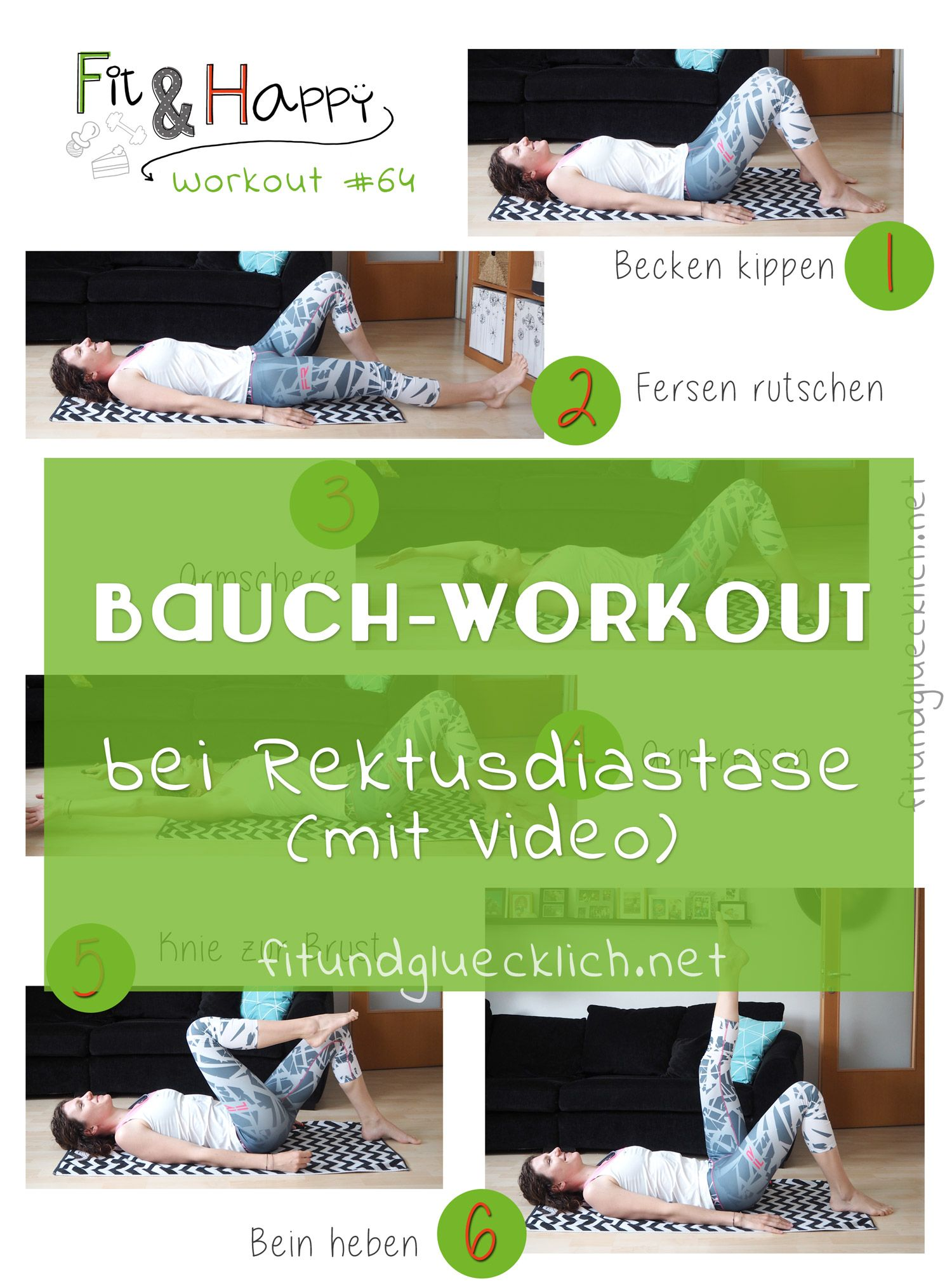 Workout #64 - Bauchtraining bei Rektusdiastase #corepilates