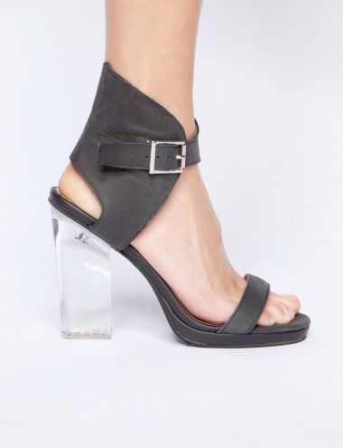 Shindig Lucite Heels - Jeffrey Campbell Shoes - Clear Heels