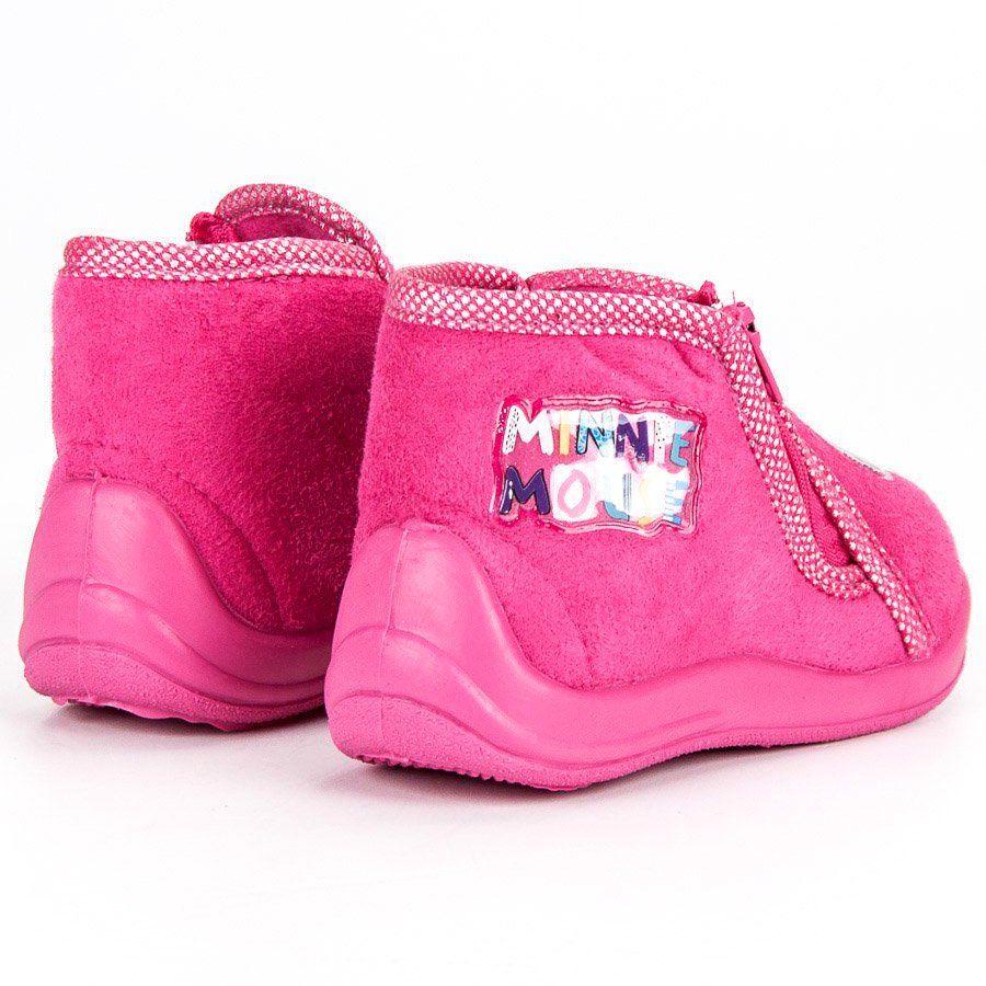 Kapcie Dzieciece Dla Dzieci Butymodne Rozowe Kapcie Na Suwak Myszka Miki Baby Shoes Fashion Shoes