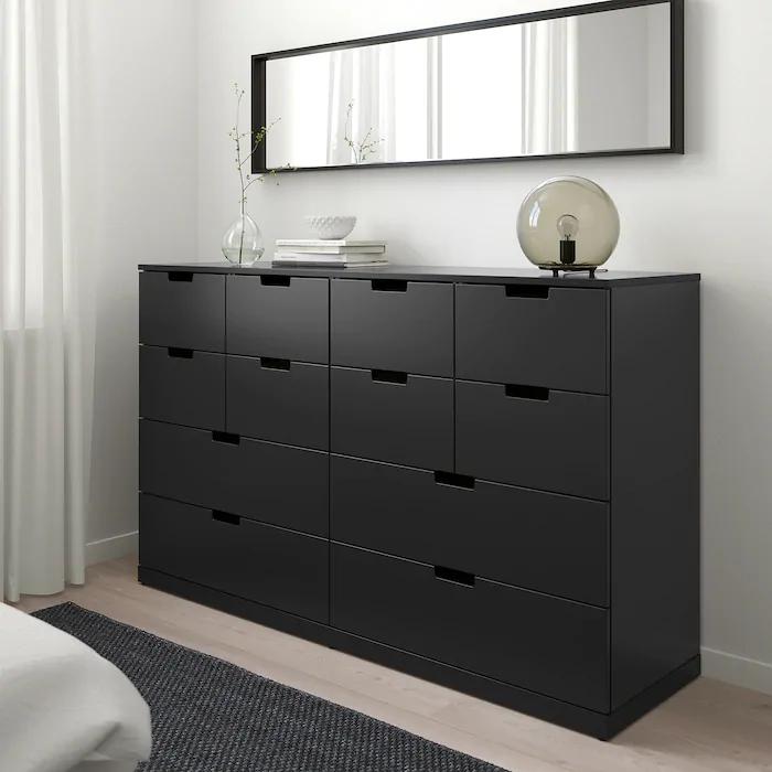 Nordli Comoda 12 Cajones Antracita Ikea Muebles Negros Comoda Dormitorio Hombre