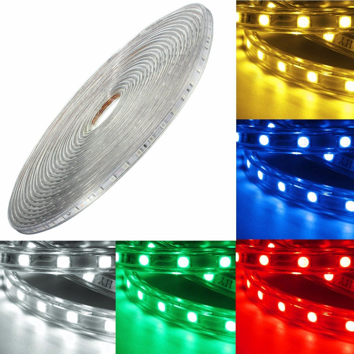 220V 14M 5050 LED SMD Outdoor Waterproof Flexible Tape Rope Strip ...
