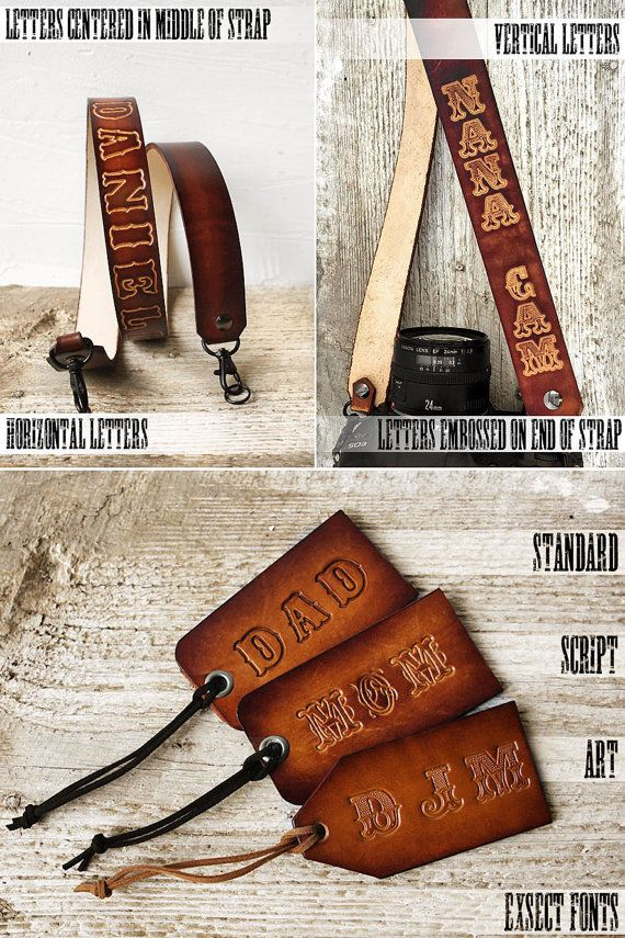 Camera Strap Custom Leather Camera Strap DSLR / SLR by Exsect
