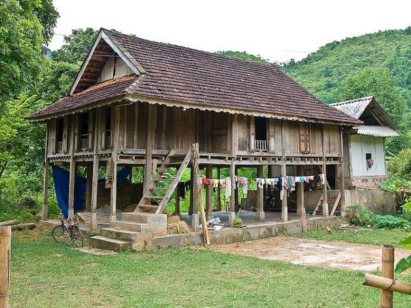 Maisons sur pilotis typiques du Vietnam plans Pinterest