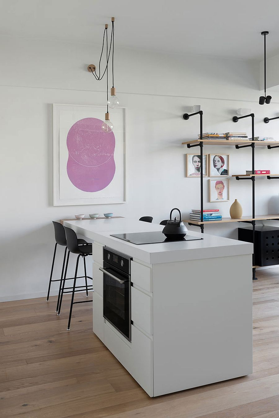 interior kitchen the home tel aviv design | Custom, Space-Saving Partitions Transform Tiny Apartment ...