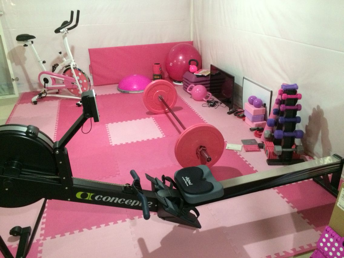 Pink floor tiles home gym pinterest gym and spaces pink floor tiles dailygadgetfo Gallery