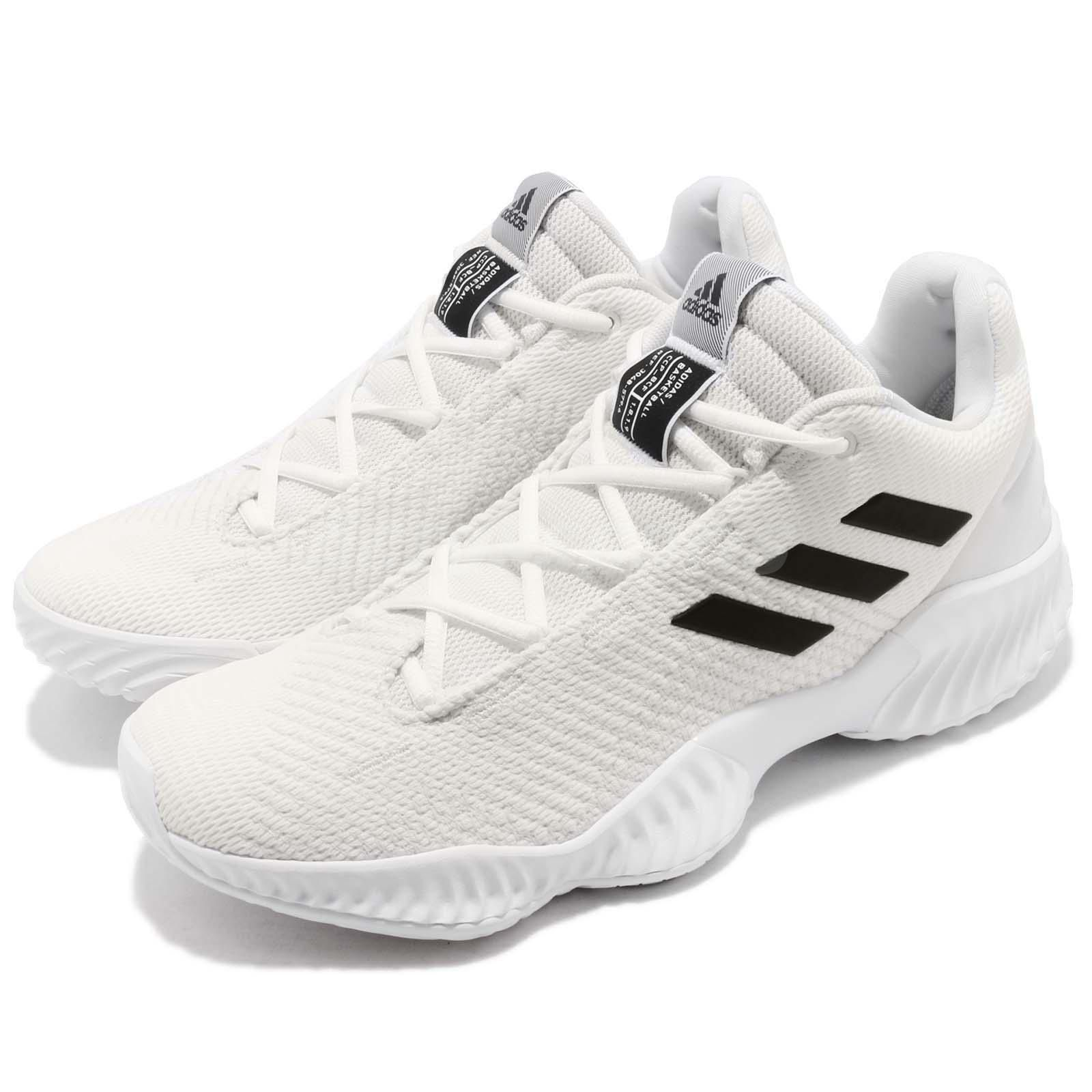ed273c84b79f6  adidas Pro Bounce 2018 Low White Black  Men  Basketball Shoes  Sneakers  buy it now