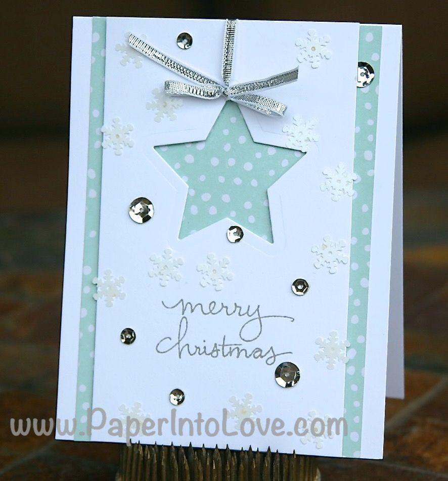 Stampin up merry christmas shaker star handmade card paper into stampin up merry christmas shaker star handmade card paper into kristyandbryce Images