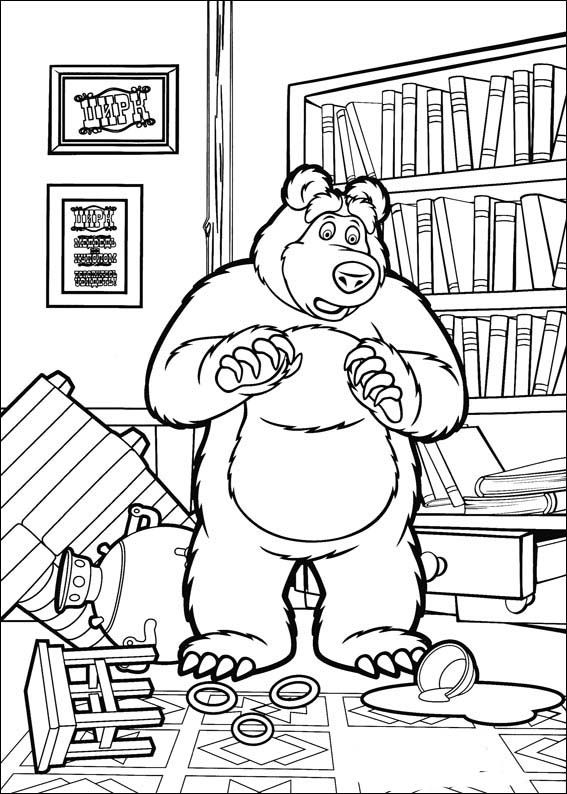Masha And The Bear Coloring Pages 2