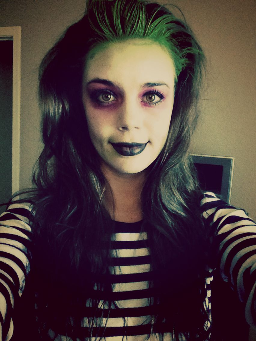 Beetlejuice Make Up Lady Girly Beetle Juice Halloween Costume Beetlejuice Halloween Costume Beetlejuice Halloween Beetlejuice Costume