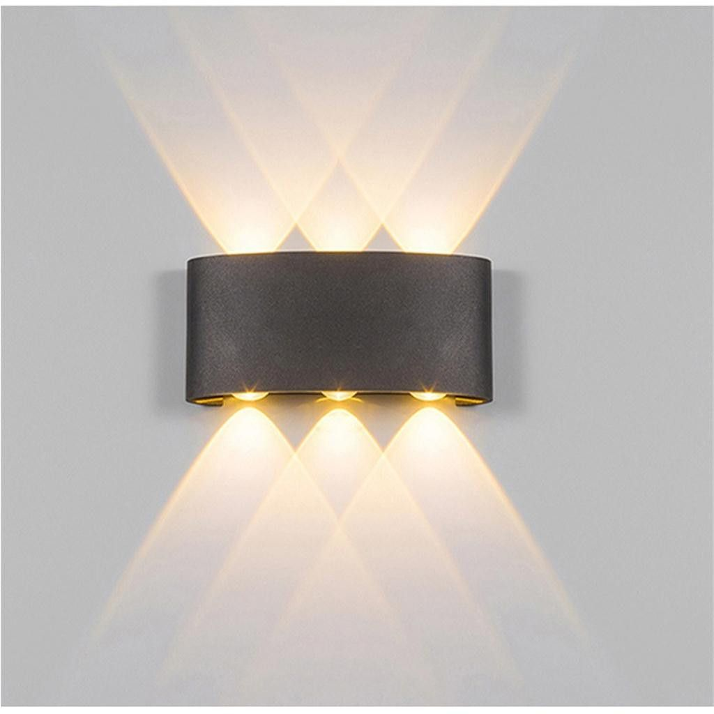 Led Aluminum Wall Lamp Double Head Up And Down Light Black White Curved In 2020 Wall Lamps Living Room Outdoor Wall Lamps Led Wall Lights