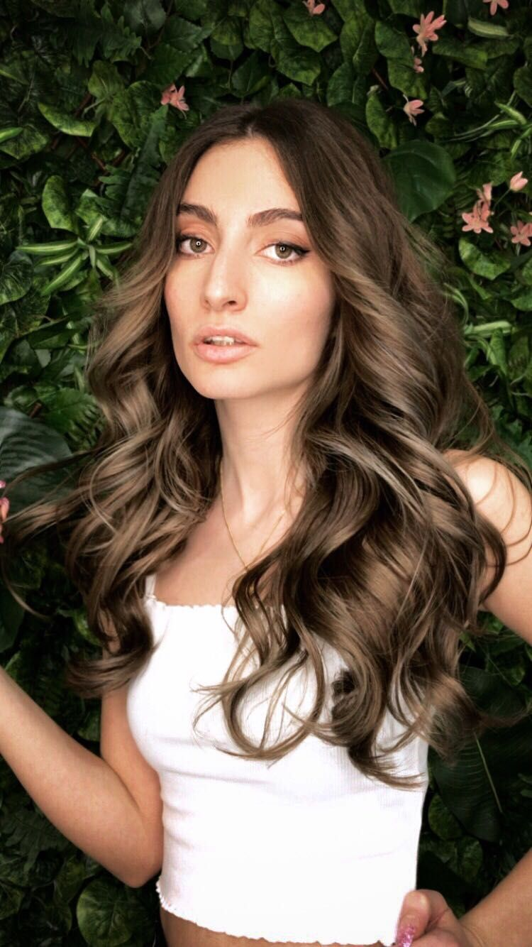 RE:NU Hair Studio Leicester cool brunette balayage SS18 styles with GHD soft curl tong to create gorgeous face framing waves visit our Instagram page @renuhairstudio for more inspo and hair styling tips #softcurls