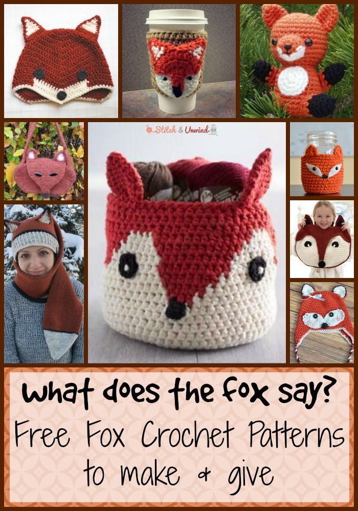What Does the Fox Say? 18 Free Fox Patterns to Knit and Crochet ...