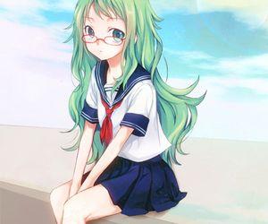 Anime Girl Green Hair