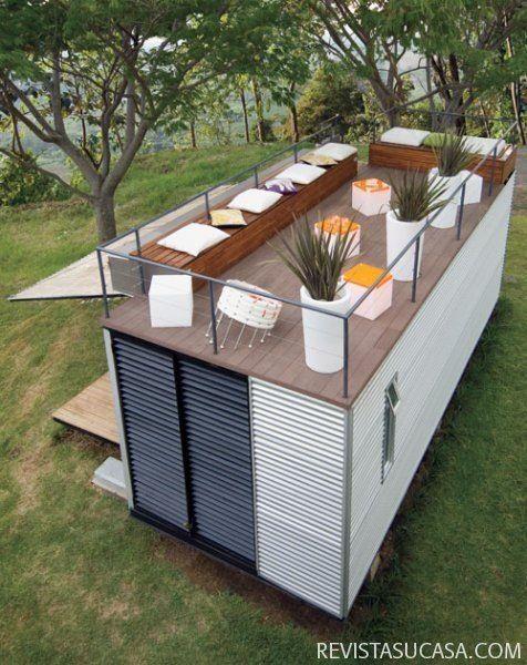 Build a container home now conteneurs maison miniature - Casas hechas con contenedores maritimos ...