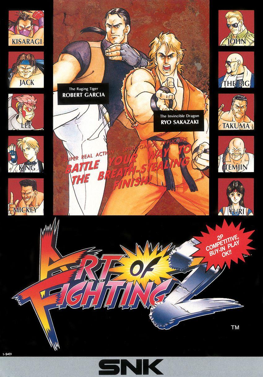 Art Of Fighting 2 Snk Anime Desenhos Game