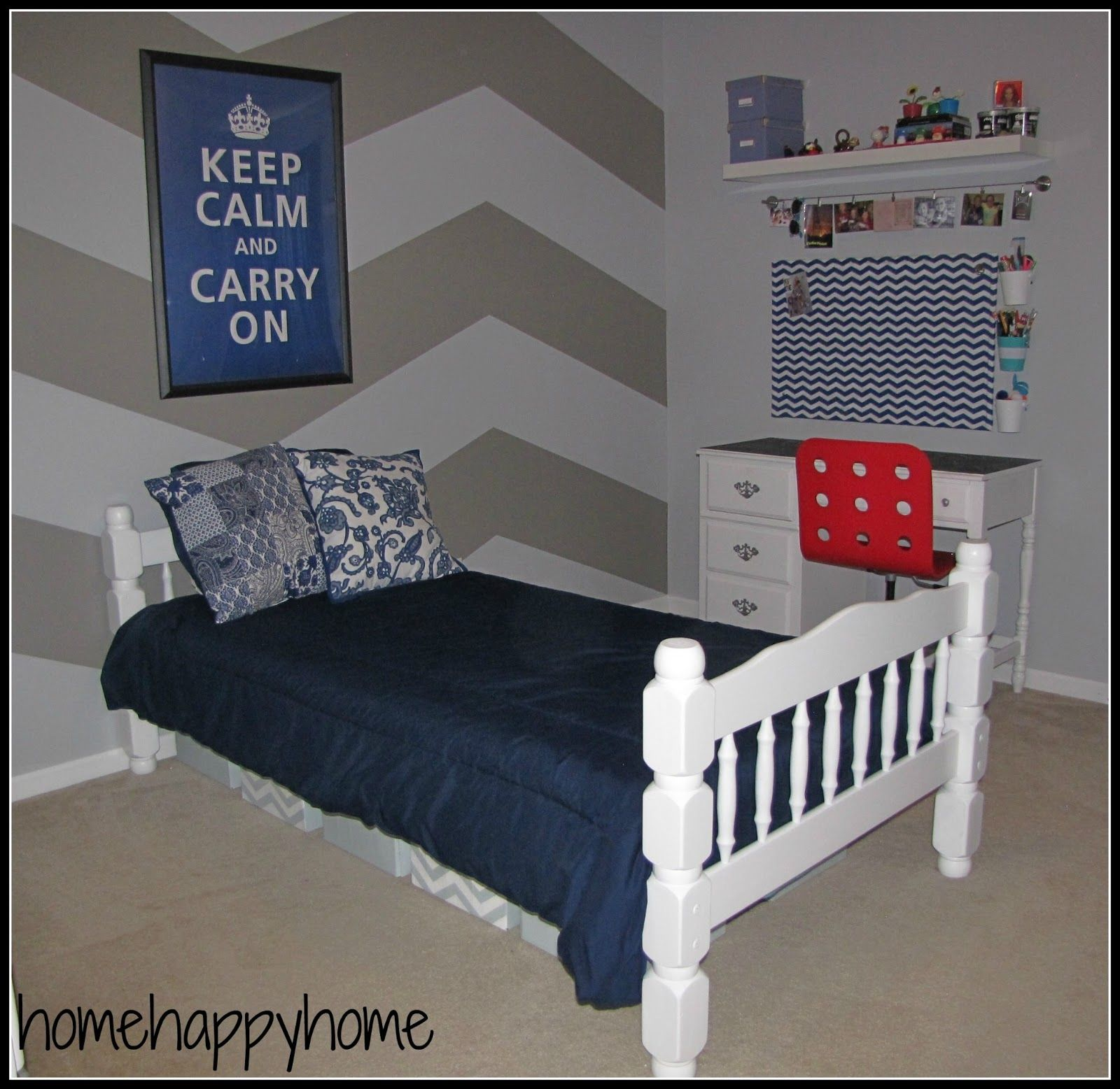 Bedroom: Terrific Single Bunk Bed With Americana Decorating ... on