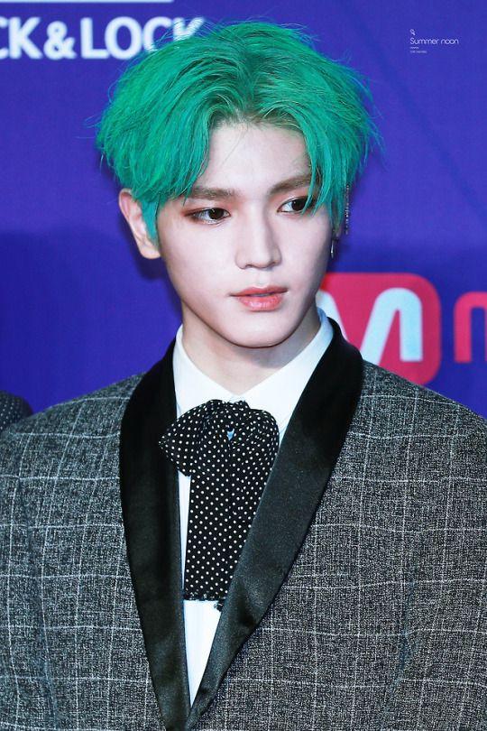 Lee Taeyong Green Hair Kpop Hair Color Nct Taeyong