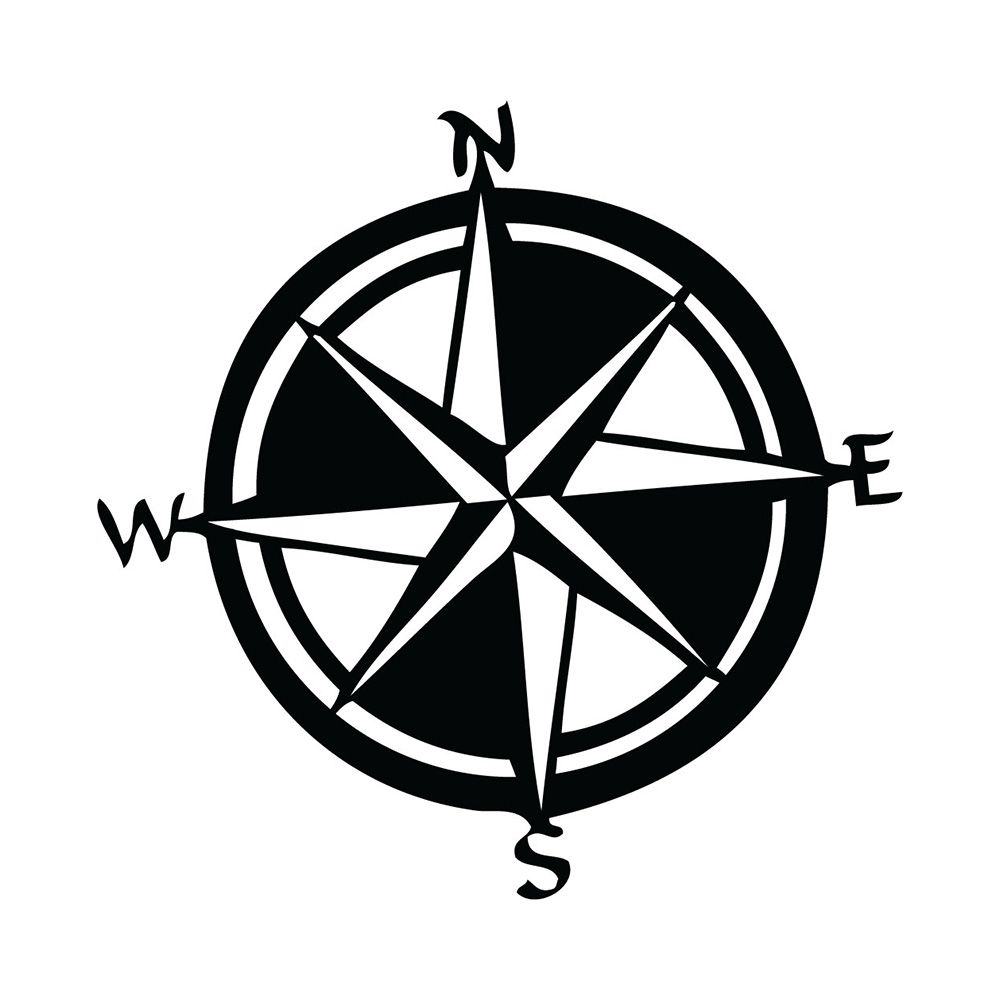 Show off your love off all things nautical with this attractive compass decal. The…