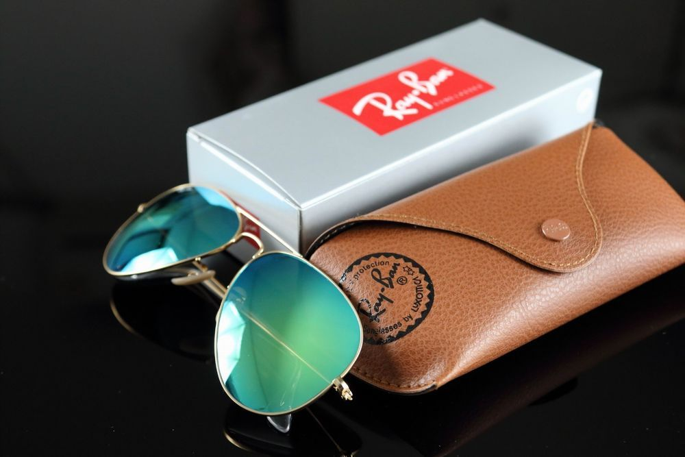 362a167839 New RAY BAN Aviator Sunglasses Matte Gold Frame RB 3025 112 19 Green Mirror  58mm  fashion  clothing  shoes  accessories  mensaccessories ...