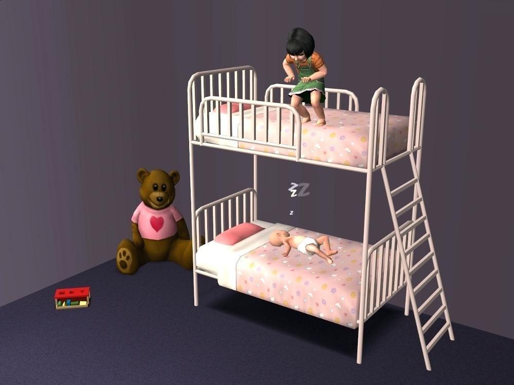 Etagenbett Sims 4 : Sims etagenbett leiter #bett bett 4 und 2