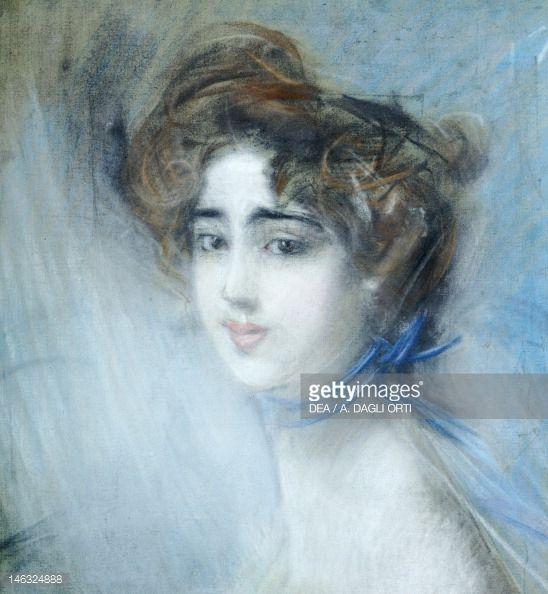 """Giovanni Boldini (Italian, 1842-1931) """"Ritratto femminile"""""""