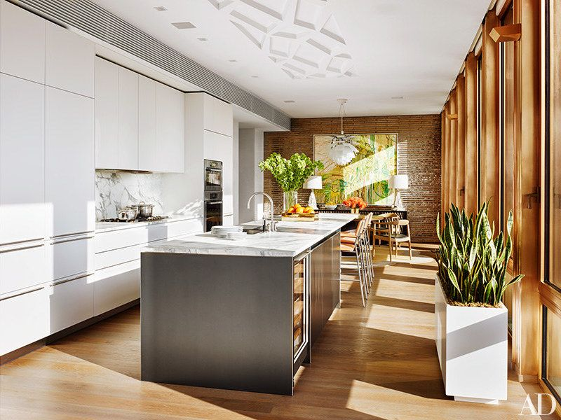 Nyc Penthouse Neutral Tones  Modern Furniture  Penthouses Open Gorgeous Modern Kitchen Cabinets Nyc Design Inspiration