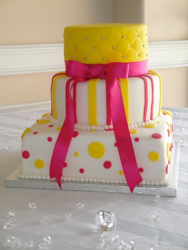 Prime Hot Pink Yellow And White Wedding With Images Pink Birthday Funny Birthday Cards Online Ioscodamsfinfo