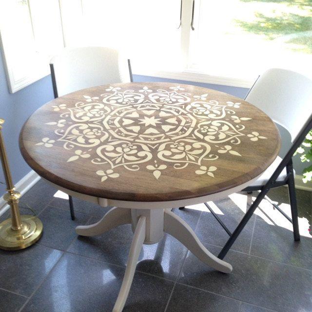 Explora los art culos nicos de stencilslabny en etsy el - Mesas de madera hechas a mano ...