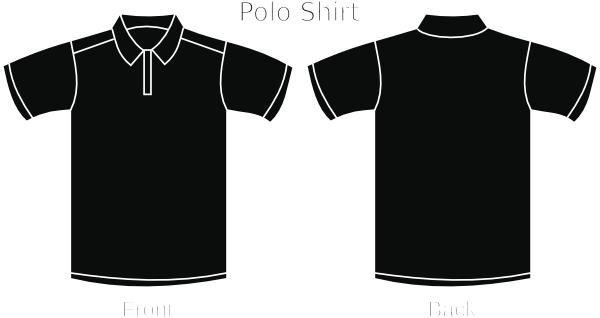 Pin Black Polo Shirt Clip Art On Pinterest Black Polo Shirt Shirt Template Shirt Illustration