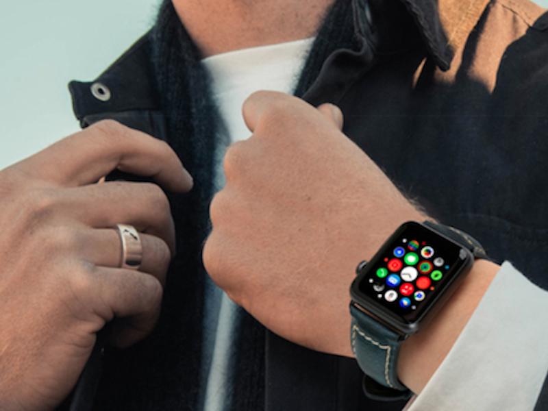 Apple Watch Leder Armband Echtleder Handgefertigt Apple Watch Series 1 2 3 4 Oil Waxed Leder Blau Armband Leder Leder