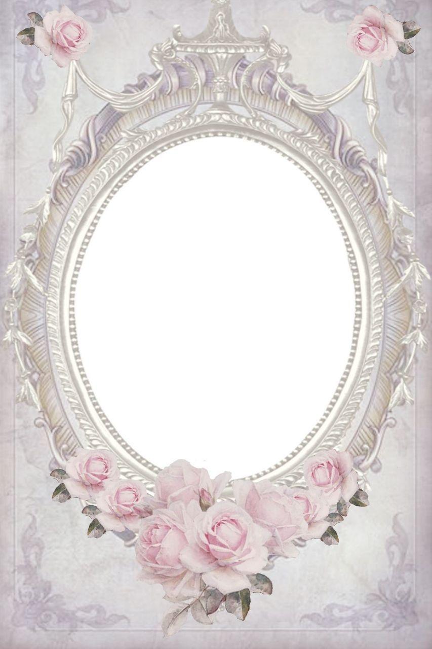 Pin By Amani On صور للتصميم Flower Frame Vintage Frames Paper Frames